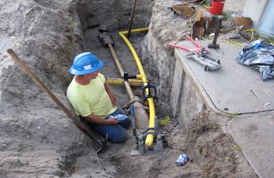 Natural gas construction company
